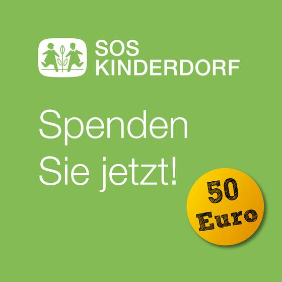 50 € Spende an SOS Kinderdorf